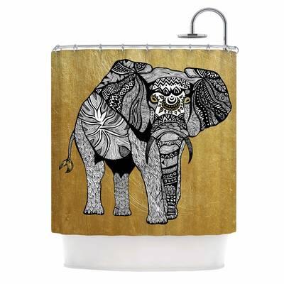 Golden Elephant Shower Curtain