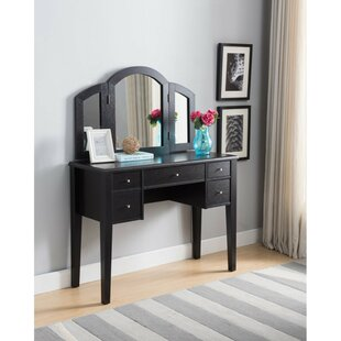 Combs Vanity with Mirror by Alcott Hill