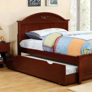 Rotan Transitional Panel Bed by Harriet Bee Today Sale Only