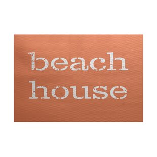Cedarville Beach House Coral Indoor/Outdoor Area Rug