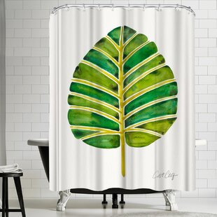 Elephant Ear Alocasia Single Shower Curtain by East Urban Home 2019 Coupon