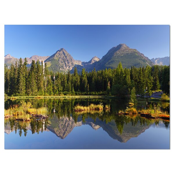East Urban Home Slovakia Tatra Mountain Natural Lake Photographic Print On Wrapped Canvas Wayfair