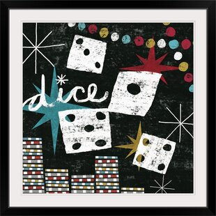 'Vegas Dice' by Michael Mullan Painting Print by Great Big Canvas