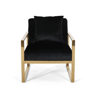 Penitas Stainless Steel Modern Glam Armchair by Everly Quinn