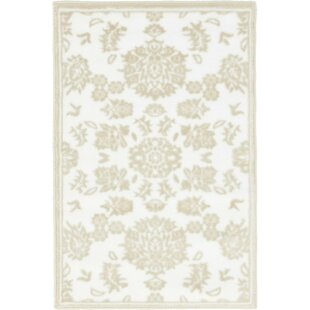 Matis Snow White/Beige Area Rug By Lark Manor