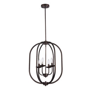 Laurel Foundry Modern Farmhouse Bouvet 4-Light Geometric Chandelier
