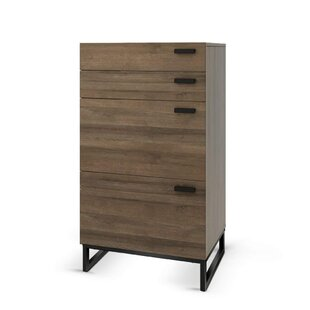 Cryal Wood 4 Drawer Accent Chest by Union Rustic