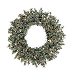 Lighted Spruce Wreath