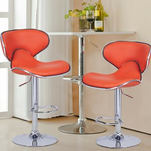 Marra Adjustable Height Swivel Bar Stool (Set of 2) by Orren Ellis
