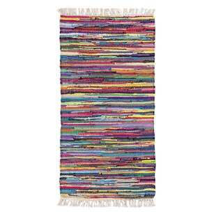 Multi Woven Cotton Yellow/Pink Rug by Andiamo