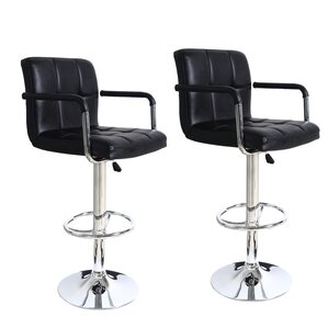 Bristol Adjustable Height Swivel Bar Stool (Set of 2) by Brayden Studio