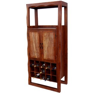 Mesa Wooden Bar with Wine Storage