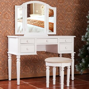 vanity set for teenager. Vanity Set with Mirror Makeup Tables and Vanities You ll Love  Wayfair