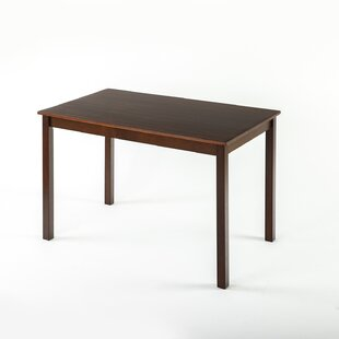 Erica Espresso Wood Dining Table By Brayden Studio