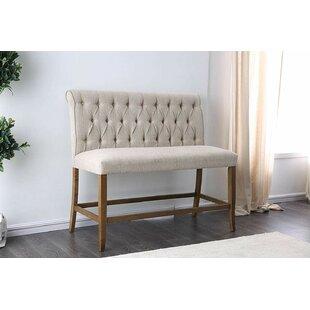 Flint Upholstered Wood Bench