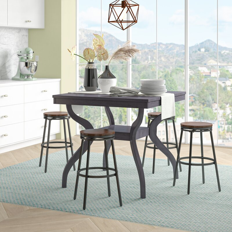 White Cane Outdoor Furniture, Darby Home Co Newton Counter Height Dining Table Reviews Wayfair