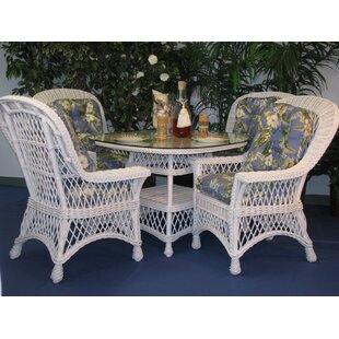 Rosado 5 Piece Dining Set with Cushions