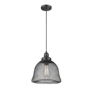 Compare prices Blais 1-Light Cone Pendant By Williston Forge