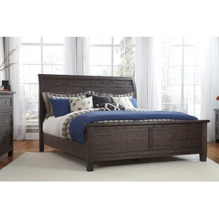 Loon Peak Sheraden Upholstered Panel Bed with Mattress