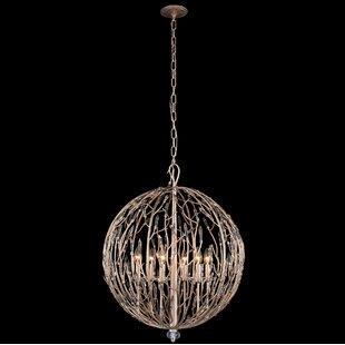 Varaluz Bask Orb 6-Light Globe Chandelier