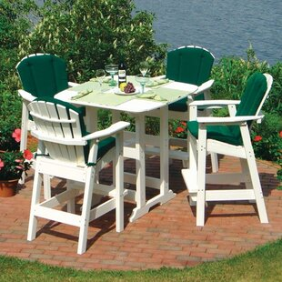 Seaside Casual Adirondack 5 Piece Bar Height Dining Set