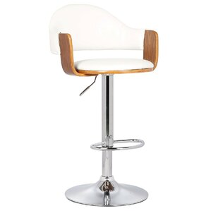 Yvonne Adjustable Height Swivel Bar Stool by Porthos Home