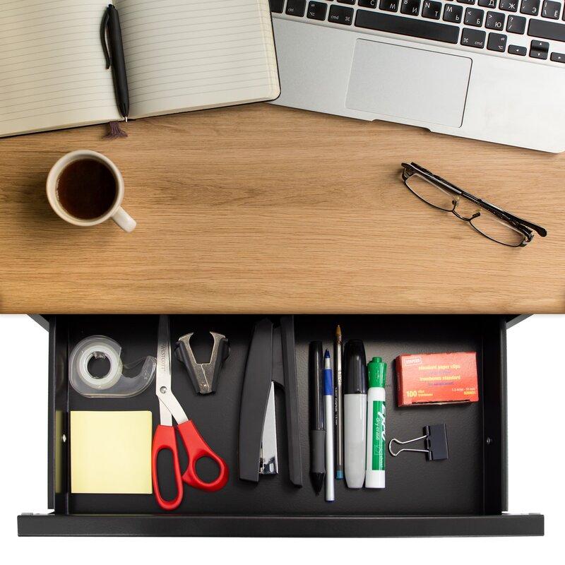Rebrilliant Signorelli Under Desk Pull-out Desktop Organizer   Wayfair