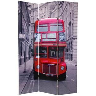 East Urban Home Double Decker Bus 3 Panel Room Divider