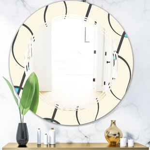 What Are The Best Quality Vanity Mirror East Urban Home Whirl Foliage Iii Modern Contemporary Frameless Wall Mirror