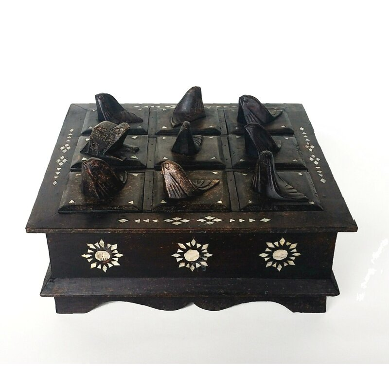 World Menagerie Malvina Mahogany Betel With Mother Of Pearl Inlay Decorative Box Wayfair
