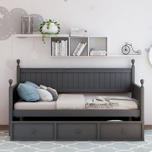 Dunstan Wood Twin Platform Bed with Trundle