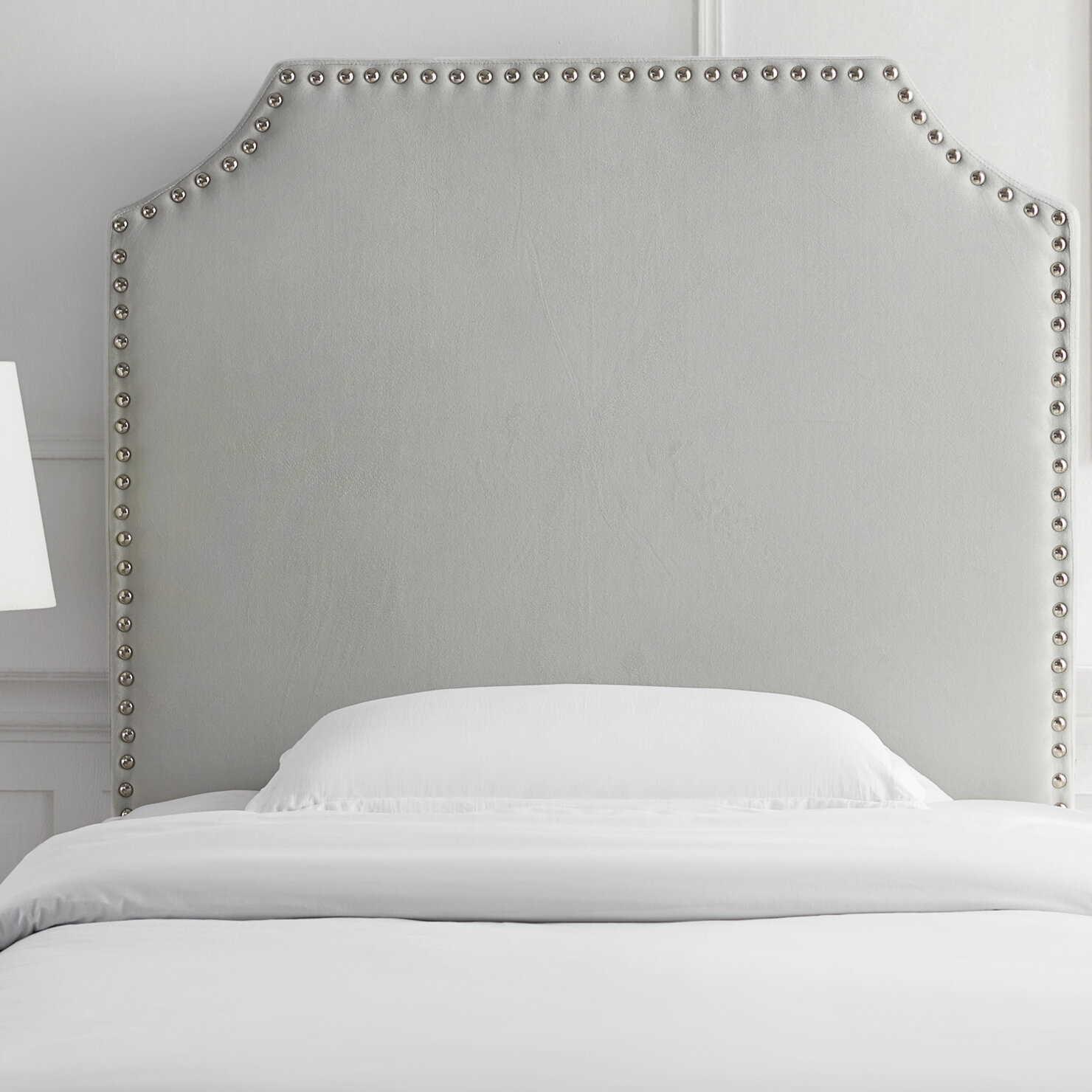 Maidste Bevel Tacked Plush College Twin Upholstered Headboard