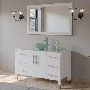Shara 48 Single Bathroom Vanity Set with Mirror By Wrought Studio