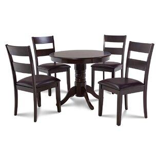 Alcott Hill Cedarville 5 Piece Cappuccino Dining Set