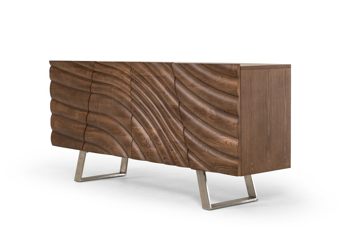 Modern Dark Wood Credenza : Modern sideboards buffets allmodern