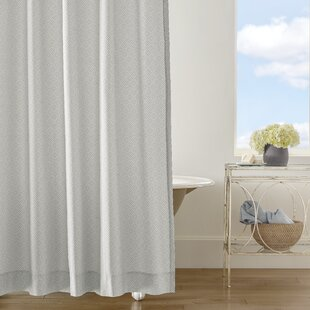 Comparison Diamond Lattice Cotton Shower Curtain ByCompanyC