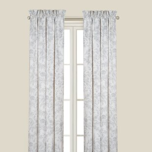 Karen Grey Single Curtain Panel