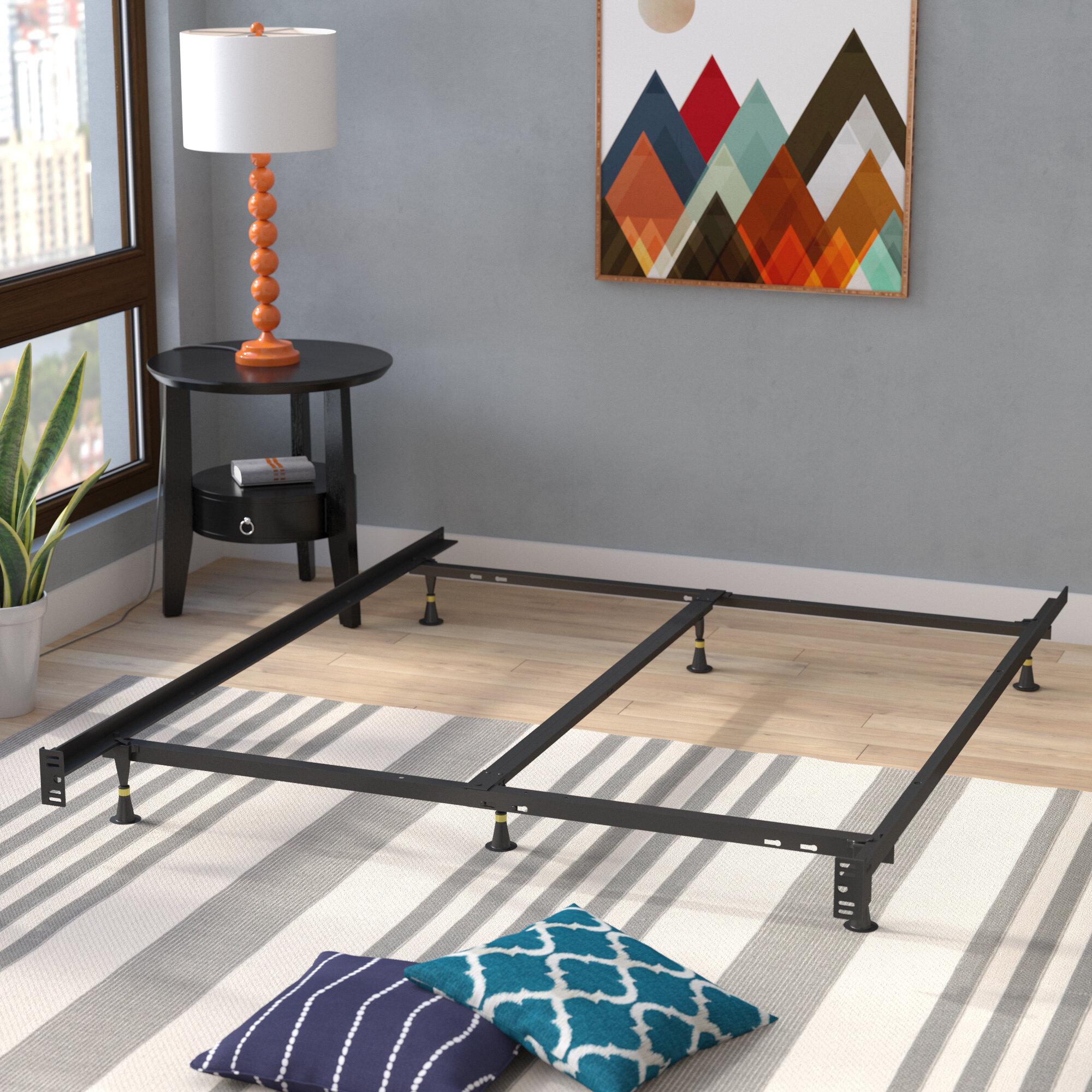 Symple Stuff 6 Leg Adjustable Metal Bed Frame Reviews Wayfair