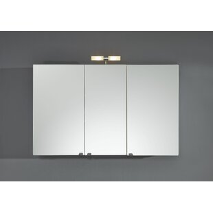 110cm X 68cm Surface Mount Mirror Cabinet With Lighting By Belfry Bathroom