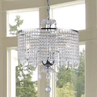 Read Reviews Karole 3-Light Crystal Chandelier By House of Hampton