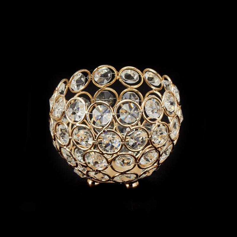 Ball Crystal Votive Holder