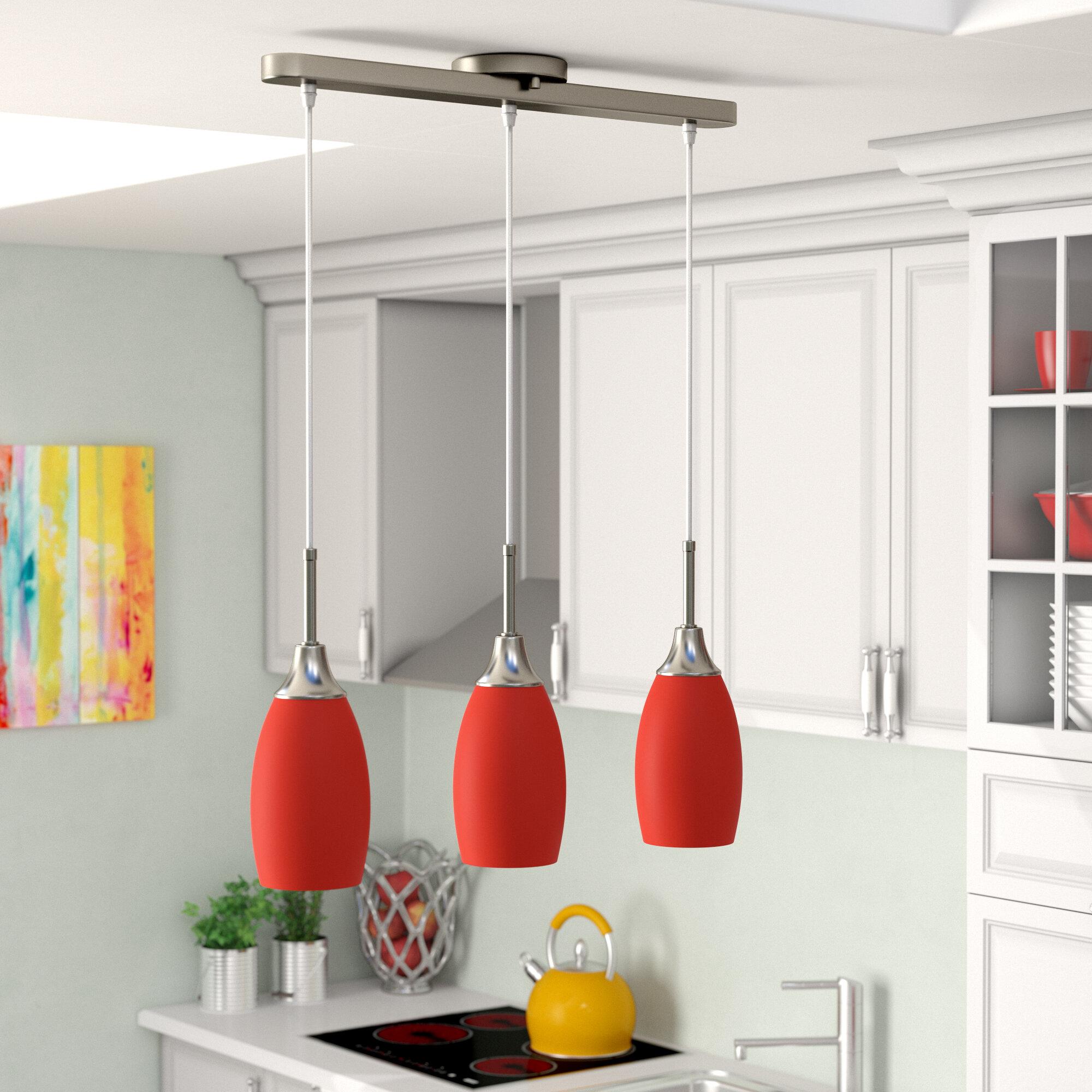 Latitude Run Centralia 3 Light Kitchen Island Linear Pendant Reviews Wayfair