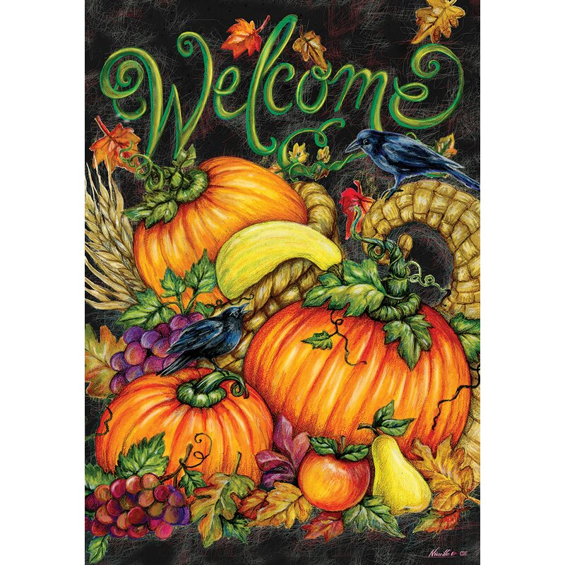 Custom Decor Harvest Welcome 2 Sided Polyester 18 X 12 In Garden Flag Wayfair
