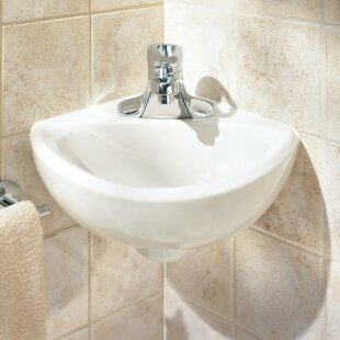American Standard Minette Ceramic Specialty Wall-Mount Bathroom Sink with Overflow