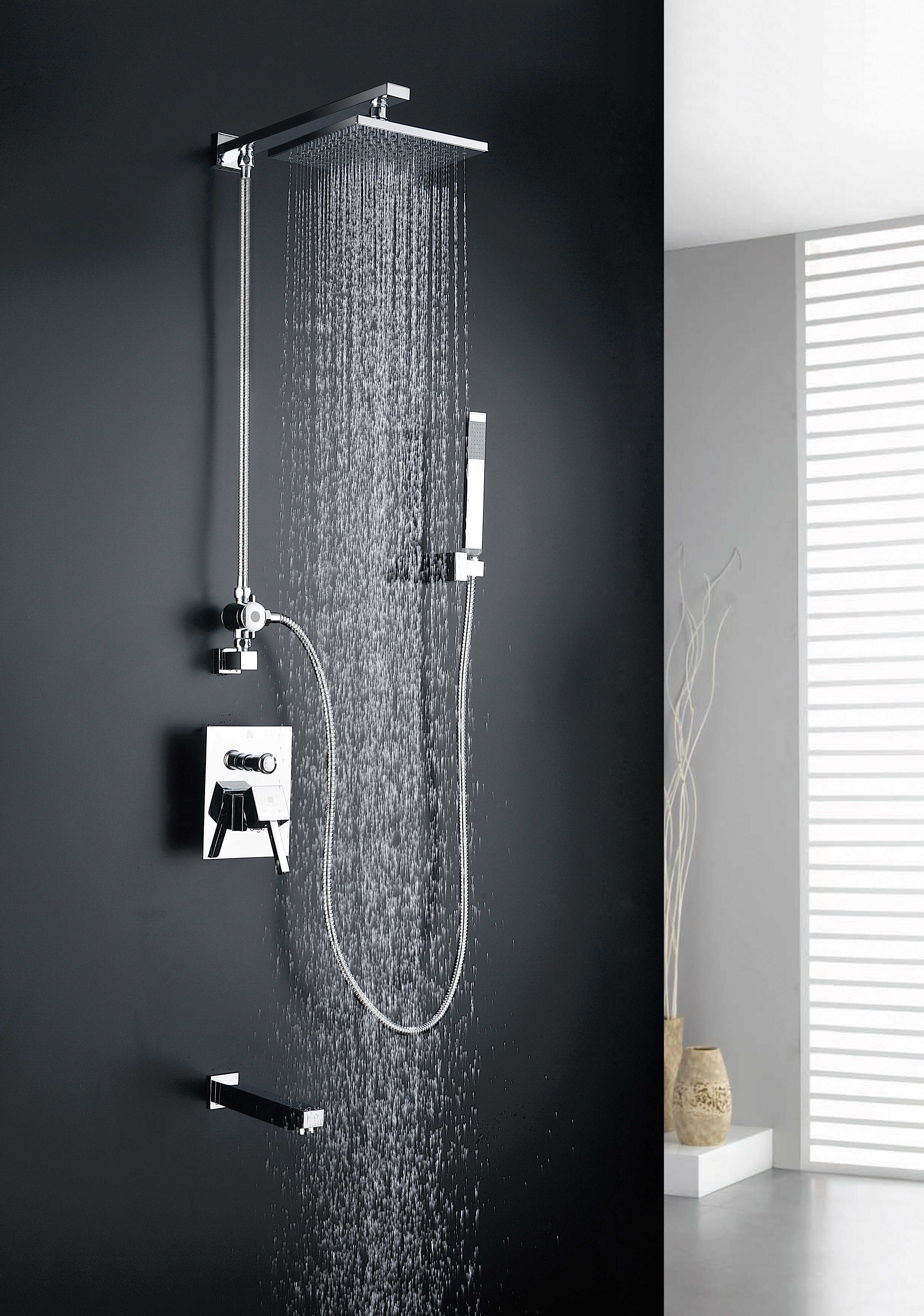 Anzzi Rain Shower System With Hand