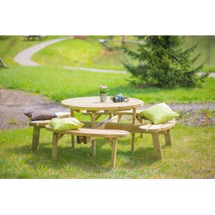 Itzel Wooden Picnic Bench By Sol 72 Outdoor