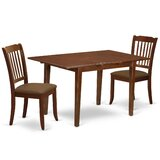 Verdia 3 Piece Extendable Solid Wood Dining Set by Winston Porter