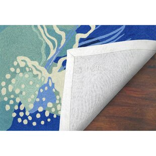 Claycomb Hand-Tufted Blue Indoor/Outdoor Area Rug