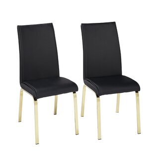 Wrought Studio Leia Upholstered Dining Chair (Set of 2)