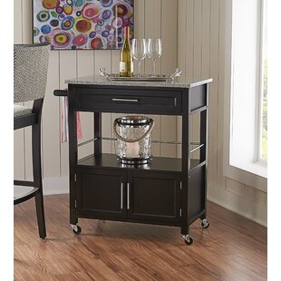 Dunkle Kitchen Cart with Granite Top by Red Barrel Studio